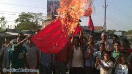 China-Flag-Burn-at-Madhesh