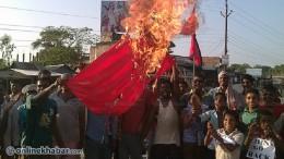 China-Flag-Burn-at-Madhesh